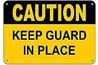 注意警備員を所定の位置に保つブリキの看板壁の装飾金属のポスターレトロなプラーク警告看板オフィスカフェクラブバーの工芸品