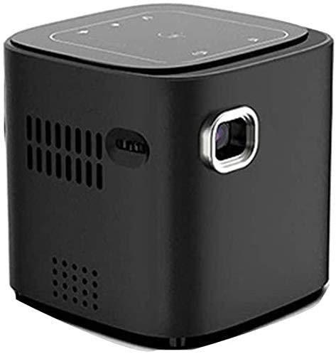 YUYANDE PROYECTOR MINI, proyector de video a todo color LED portátil, resolución de 1080p Full HD, 30,000 horas Proyector portátil LED, reproductor de medios a bordo, para dibujos animados, película d