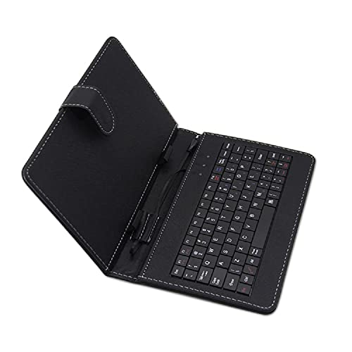 Techgadget 7 Inch Tablet Flip Cover with USB QWERTY Keyboard Stand Micro...