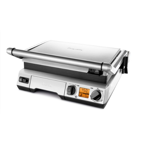 Breville BGR820XL Smart Grill, Smokeless Indoor Grill, Brushed Stainless Steel