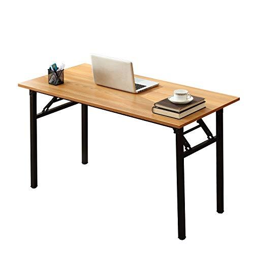 SogesHome Bureau,Table Pliante d'ordinateur 120 x 60 x 75 cm PC Bureau Bureau Poste de Travail pour Bureau à Domicile Bureau, Table à Manger Table de conférence, AC5BB-120-SH