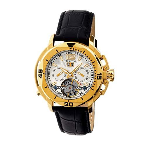 Heritor Automatic Uhr Lennon Herhr2803 schwarz 50 mm