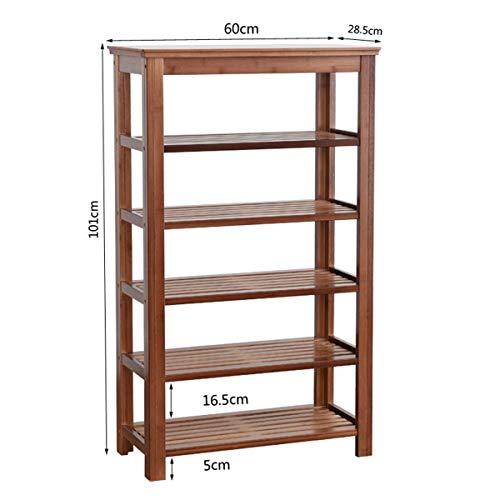 Lmz Schoenenkast voor het monteren van meerlagige schoenenkast van bamboe, rek voor schoenenkast van massief hout, eenvoudig van massief hout