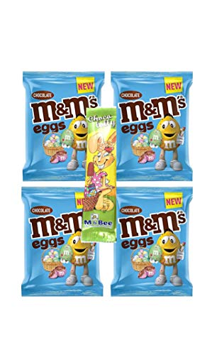 Galaxy – Mini Huevos de Pascua – Paquetes Aero / Kit Kat / Smarties / M&M Huevos + Lolly de Pascua 4 bolsas de huevos M&M y conejito Choc Lolly.