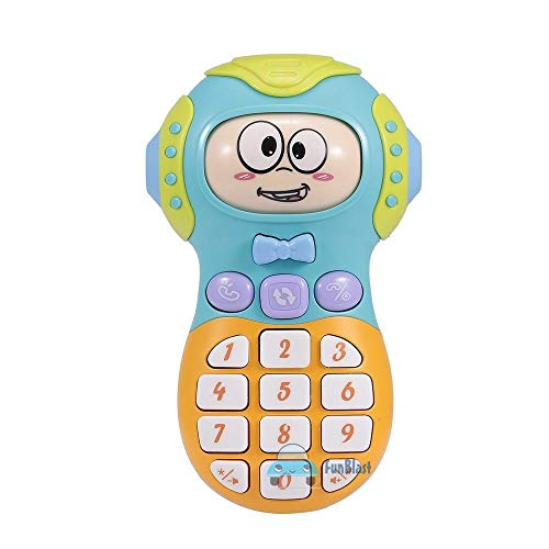 FunBlast Expression Toy Mobile Phone - Toy Phone with Light & Sound, 3 Mode Face Changing Baby Phone for Toddlers & Kids, Phone Toy for Kids - Random Color,Plastic,Multi color,Pack of 1