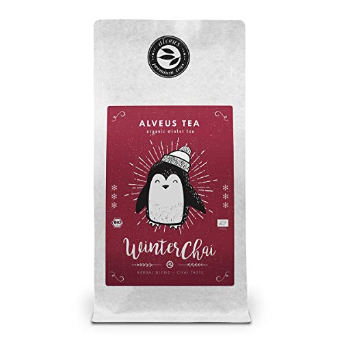 """""""Winter Chai"""" Chai Kräutermischung Bio Lose ohne Aroma mit Zimt, Schwarztee, Ingwer u. weiteren Zutaten – (ca. 40 Tassen) 100 Gramm Tüte von alveus Premium Teas"""