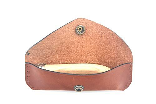 lepine werkplaatstas van leer, handgemaakt, voor messen Le Morezieën, model Paulo licht
