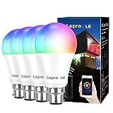 Lepro WiFi Smart Bulbs B22, APP or Voice Control LED Bayonet Bulbs,...