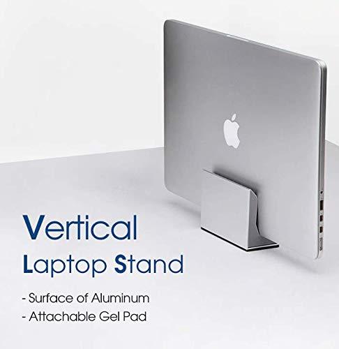 J JACKCUBE DESIGN Verticale Laptop Stand – Tablet Houder Monitor Station voor Office Bureau Accessoires, Desktop Houder (4.3W x 3.5H x 2H inches) -MK477A