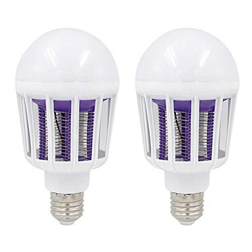 YONGQING Paquete de 2 Bombillas LED de luz, lámpara para Matar Mosquitos, 220 v 110 v E27, 9 w, lámpara electrónica para Matar Mosquitos, para iluminación del hogar, Dormitorio, Luces antimosquitos