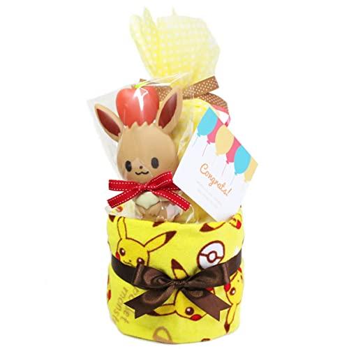 ポケモン おむつケーキ モンポケ 出産祝い ピカチュウ イーブイ 男の子 女の子 パンパース テープSサイズ15枚 (イーブイ)
