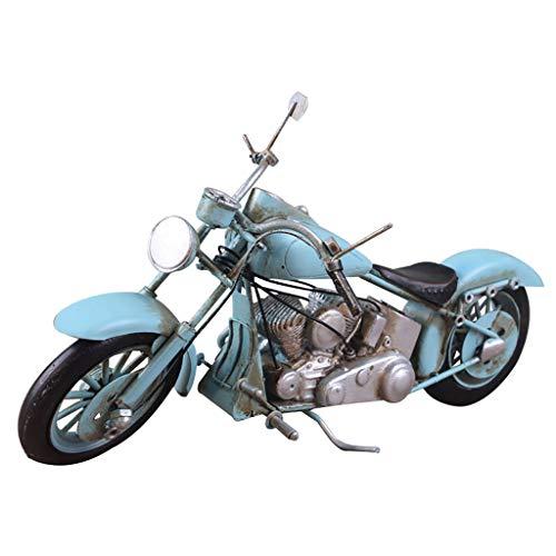 YYDE Hecho A Mano Vintage Adornos Decorativos, Motocicleta Cafe Sala Vitrina, Vino...
