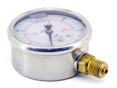 electromyne MS 10063 GLY CRE Glycerin-Manometer Hydraulik 63mm Uhr CL. 1.6 Druck-Messgerät