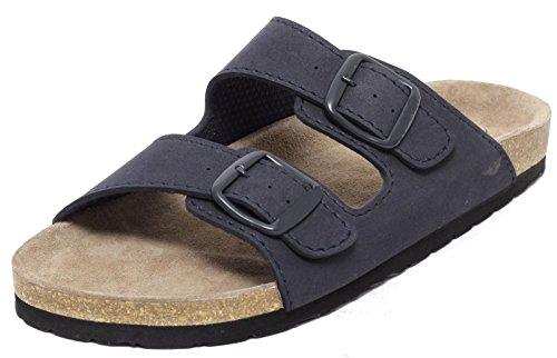 Herren Clogs Tieffußbett Pantolette Sandale Slipper offen Navy BLAU Gr.41-44 (43)