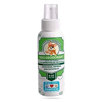 PAWTITAS Parfum pour Chien désodorise Le Pelage du Chien en Laissant Un agréable arôme a Eucaliptus et Menthe   Bio Spray Parfum pour Chiot   Naturel Deodorizer Spray pour Chiens - 236 ML