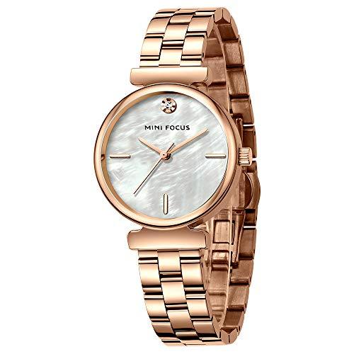 Reloj con Incrustaciones De Diamantes A La Moda para Mujer, Correa De Acero Inoxidable, Simple Placa De Reloj De Cuarzo Resistente Al Agua