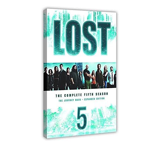 Poster su tela, serie TV drammatica Lost Season 5 (1), decorazione da parete per soggiorno, camera da letto, 30 x 45 cm, cornice: 1