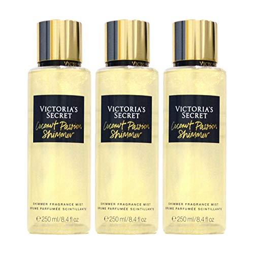 Victoria's Secret Coconut Passion Shimmer Fragrance Mist Lot Of 3