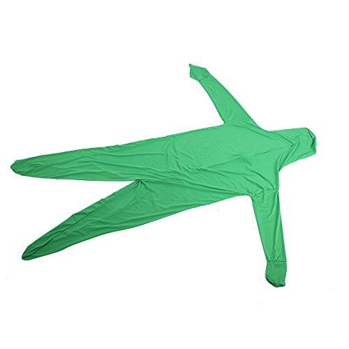 Bolange Green Screen Suit Tight Suit Déguisement de Corps vidéo Confortable
