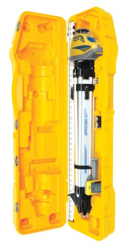Spectra Precision LL300N-3 Laser Level, Self Leveling Kit with HL450 Receiver, Clamp, 4.7 Meter Grade Rod / Metric and Tripod