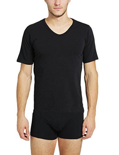 Ultrasport T-shirt homme col en V, noir, XXL, 1307-200