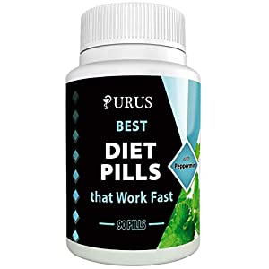 Effective Weight Loss Supplements Combining Appetite Suppressant – Peppermint Natural Diet Pills -Fast Fat Burner and Natural Detox Features – 90 Natural Diet Pills