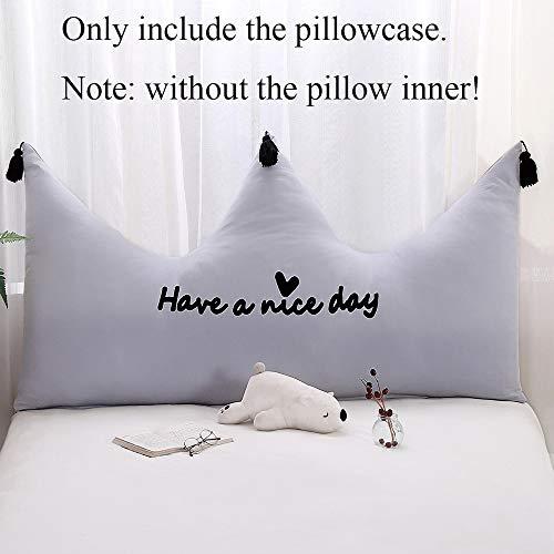 Sofá de casa asiento trasero extraíble lavable 150 cm funda de almohada corona princesa habitación cojín de la cama funda suave