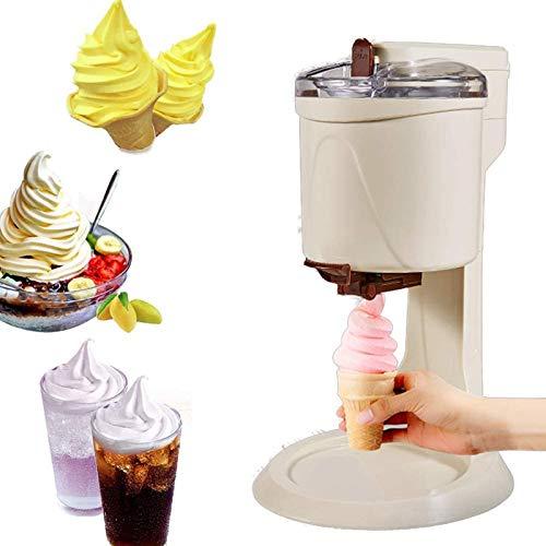 Fruit Soft Serve Ice Cream Maker, Electronic Frozen Yogurt Machine Sorbet with Countdown Timer, Frozen Yogurt Maker for Frozen Fruit Dessert Portable Household Use (Yellow)