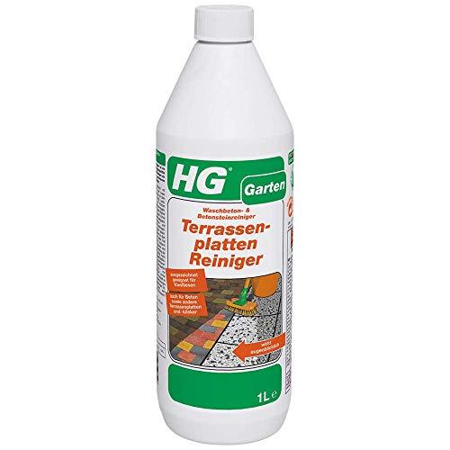 HG Terrassenplatten Reiniger 1L – ein konzentrierter Terrassenreiniger zur effektiven Reinigung von Gartenplatten