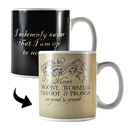 HARRY POTTER MUGBHP02 Tasse de café, Céramique, Noir, 1 Unité (Lot de 1)