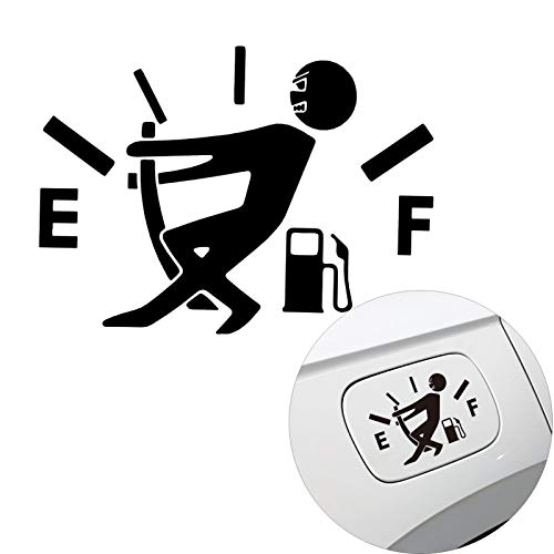 Voroly Funny Car Stickers Auto Fuel Tank Cap Decals Fuel Gage Empty Stickers Car Body Bumper...