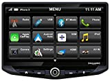 Stinger HEIGH10 10' Multimedia Car Stereo 1024 x 600 HD Display. Apple Car Play, Android Auto, SiriusXM Ready, Bluetooth, TOSLINK Audio Output & HDMI Rear Input, Single/Double DIN Mounting