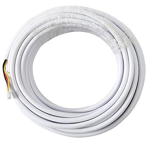 JSLBtech 10M / 32FT RVV4 4 núcleos Cable Extensión para Intercomunicador de Video/Cables de Timbre de Teléfono de Puerta de Video/Cable de intercomunicador