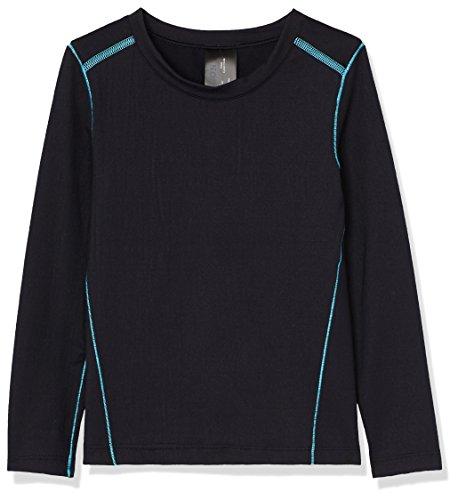 RED WAGON Camiseta de Compresión Niñas, Pack de 2, Negro (Black), 122 (Talla del fabricante: 7)