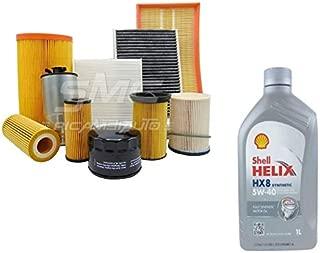 """Kit de revisión y cambio de aceite formado por 5 litros de aceite """"Helix HX8 5W40"""" y 4 filtros """"Wix"""" (WL7008, WF8046, WA6333 y V3227)"""