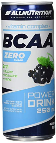 All Nutrition BCCA Zero Drink Blackcurrant Flavour Carbonated Drink 16 Cans