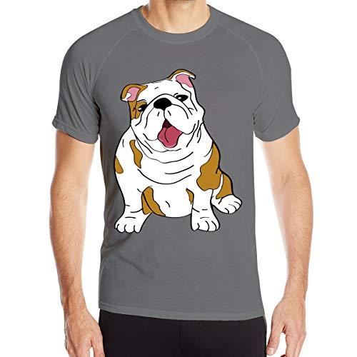 Englische Bulldogge Herren Quick Dry T-Shirt Militär T-Shirt Herren Outdoor Camping Wanderhemden Kurzarm