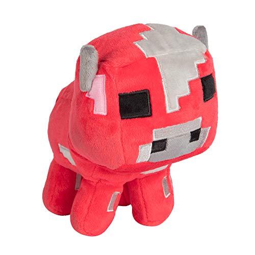 "JINX Minecraft Happy Explorer Baby Mooshroom Plush Stuffed Toy, Red, 5.25"" Tall"