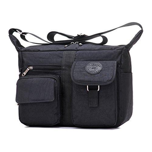 Women's Shoulder Bags Casual Handbag Travel Bag Messenger Cross Body Nylon Bags Black