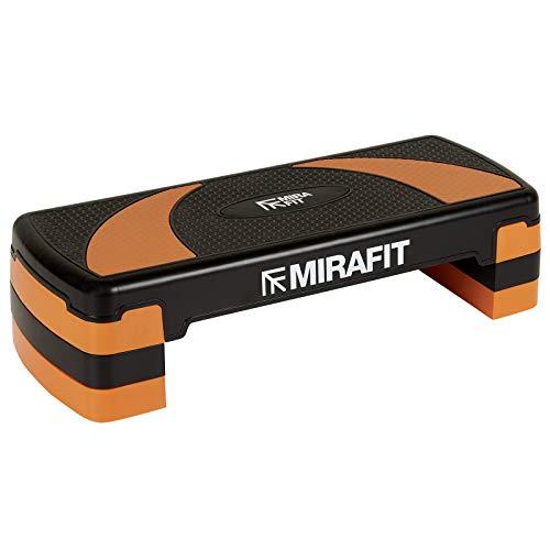 Mirafit - Aerobic-Steppbrett mit 3 verstellbaren Höhen - Schwarz/Orange