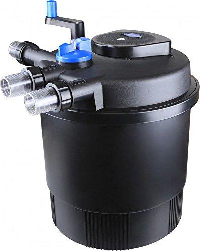 Aquaristikwelt24 CPF 20000 Bio Druckteichfilter 40000l Teichfilter Bachlauf inkl.36 Watt UVC Klärer Druckfilter Bachlauf UVC Lampe Klar