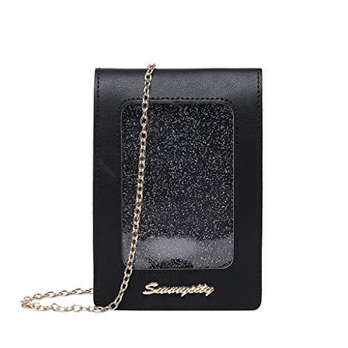 Universal Handy Umhängetasche, 2 in 1 Doppelschicht Handtasche Geldbörse Handy Tasche für Frauen...