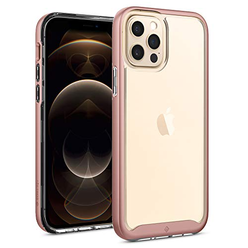 Hülleology Skyfall Hülle Kompatibel mit iPhone 12 Kompatibel mit iPhone 12 Pro - Rose Gold