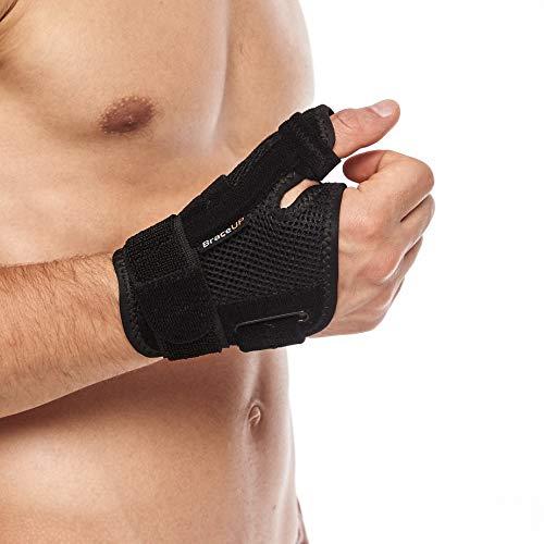BraceUP Muñequera para dedo pulgar con férula espiga y soporte de mano para artritis, tendinitis, alivio del dolor del túnel carpiano y esguince de pulgar, para hombres y mujeres ✅