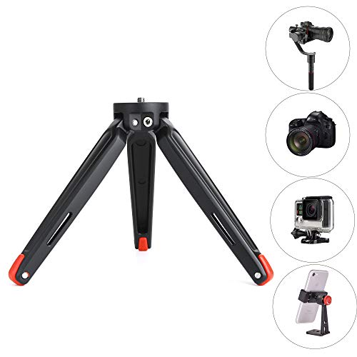 Mini Tripod, Ruittos Tabletop Stand Base Compatible with DSLR Camera, Zhiyum Crane V2/Crane-M/Smooth Q/Smooth 3 III II Moza Air Moza Mini-G Feiyu G4 Pro Godox A1 Phone Flash (RT-T21)