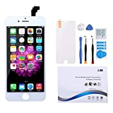 Screen Replacement for iPhone 6 Screen White LCD Display Digitizer Frame Assembly Full Set with Repair Tools and Screen Protector for iPhone 6 White Replacement Screen
