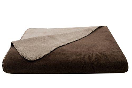 ZOLLNER Manta Grande para Cama y sofá, marrón-Beige, 150x200 cm