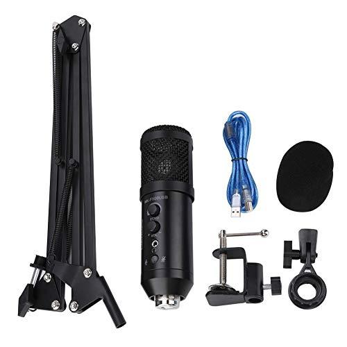 Lairun Micrófono para computadora, micrófono USB Plug and Play con Soporte para trípode, micrófono Compatible con computadora portátil de Escritorio con Windows Mac, Adecuado para Cantar en línea