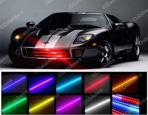 Preisvergleich Produktbild homeking Lichtband / Lichtleiste für KFZ,  Knight Rider,  Flash,  48-LED,  RGB,  wasserfest,  56 cm,  7 Farben