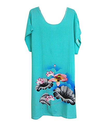 GladiolusA Talla Grande Camisones De Mujer Pintura Tinta Vestido Pijamas Ropa Interior Ropa De Dormir Premamá Camisón